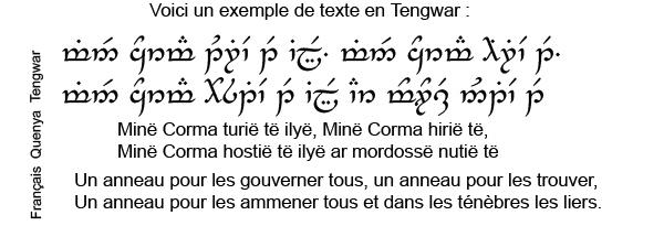 Souvent seigneur des anneaux - alphabet inventée EA82
